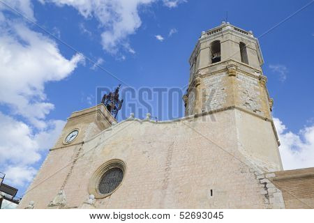 Sitges church in Barcelona