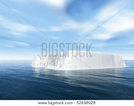 The big iceberg  on the open ocean