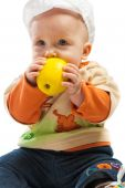 Baby Biting Apple