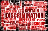 stock photo of racial discrimination  - Discrimination Creative Concept Grunge as a Art - JPG