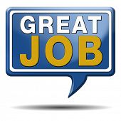 picture of job well done  - great job and well done work icon or sign - JPG