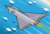 Isometric Eurofighter In Flight