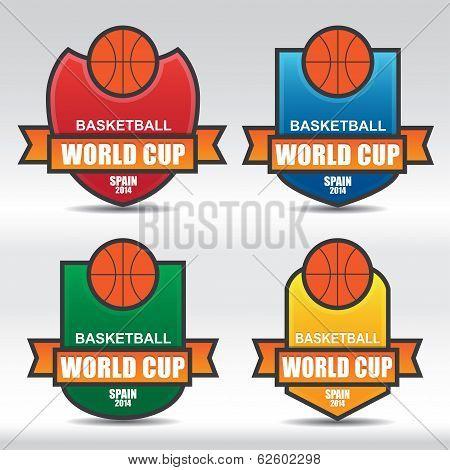 Basketball Badges - Illustration