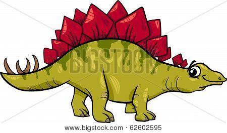 Stegosaurus Dinosaur Cartoon Illustration