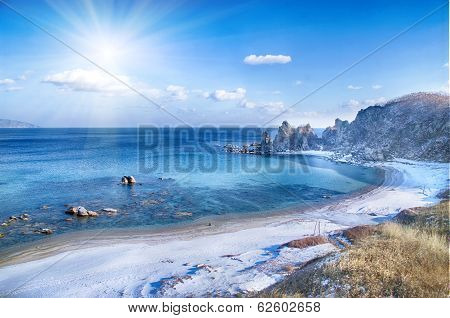 Landscape On Winter Sea,