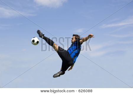 Football - Soccer Player Volley