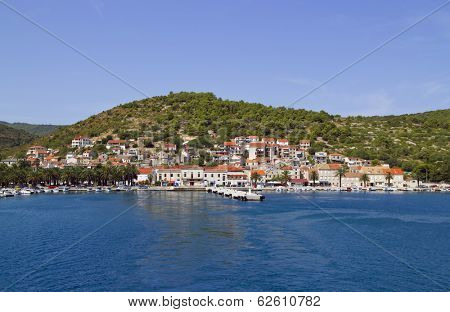 Croatian Town of Vis on Island Vis