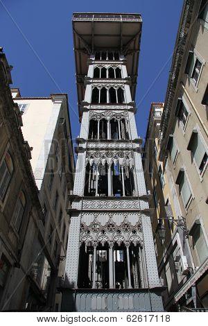 Santa Justa Elevator in Lisbon, Portugal