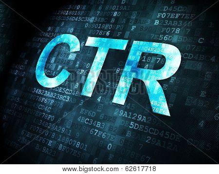 Finance concept: CTR on digital background