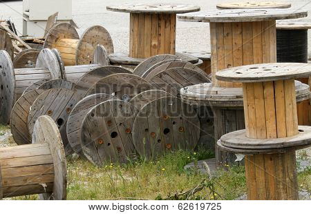 Wooden Reels Deposit For Electric Cable