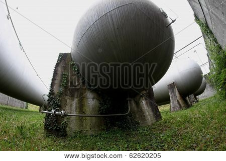 Hidden Tanks For Gas And Water Supply Of The City