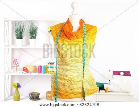 Female mannequin in creative studio