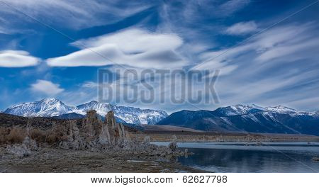 Mono Lake With Tufas And Mountains