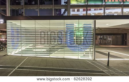 U-bahn Station Theaterplatz By Night