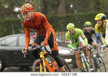 BARCELONA - MARCH, 30: Mateusz Taciak of CCC Polsat Polkowice rides during the Tour of Catalonia cycling race through the streets of Monjuich mountain in Barcelona on March 30, 2014