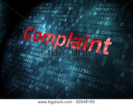 Law concept: Complaint on digital background