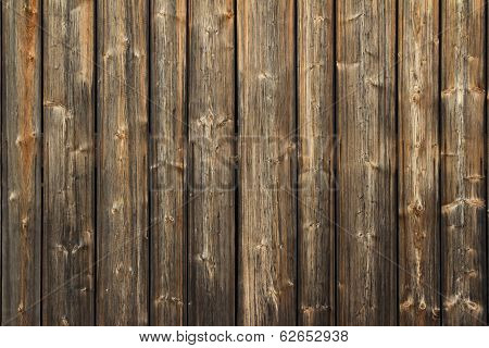 Background texture of a wooden fence or wall