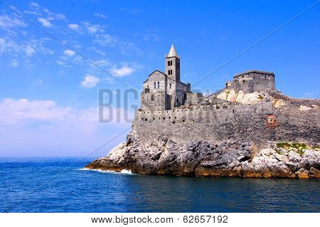 Ancient church along the sea