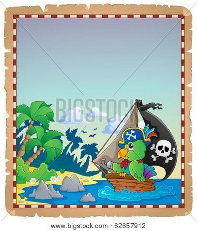 Pirate theme parchment 2 - eps10 vector illustration.