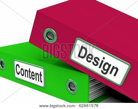 Design And Content Folders Show Company Advertising