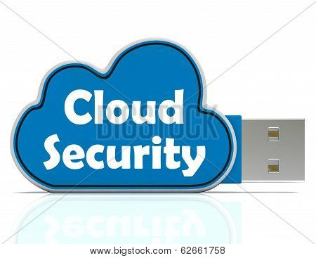 Cloud Security Memory Stick Shows Account And Login