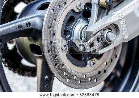 Motorcycle Wheel Brake Background In Motorbike, Motorcycle Wheel Brake