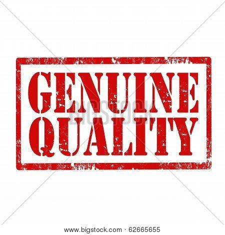 Genuine Quality-stamp