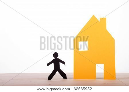 House With A Dark Paper Person