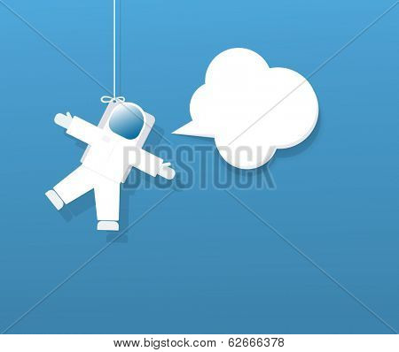 Astronaut with speech bubble