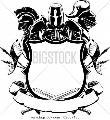 Knight & Shield Silhouette Ornament