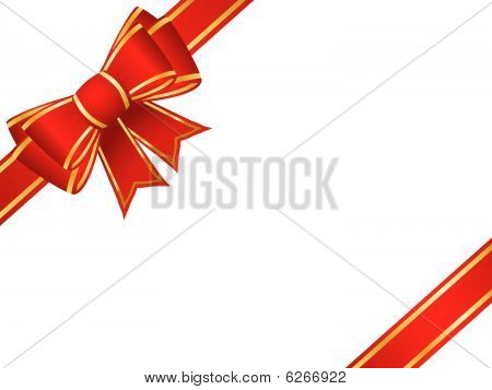 Christmas bow and ribbons