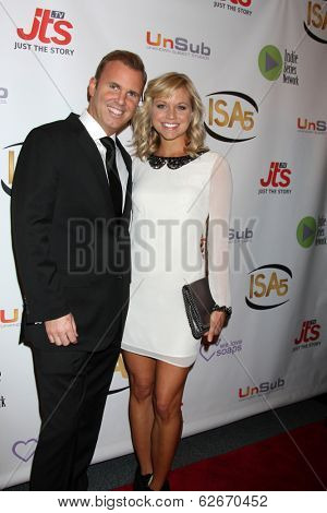 LOS ANGELES - APR 2:  Chris Coyne, Tiffany Coyne at the 2014 Indie Series Awards at El Portal Theater on April 2, 2014 in North Hollywood, CA