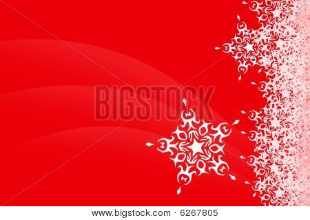 Snowflake Christmas red Background