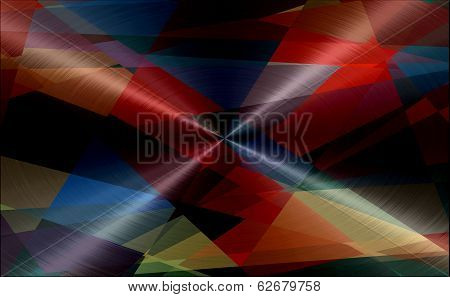 Geometric Metallic Stainless Metal Background