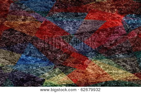 colored mosaic cubism grunge texture background