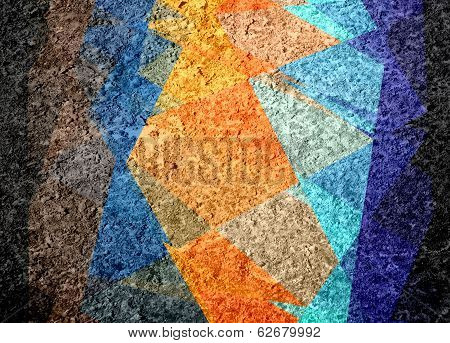 colorful mosaic cubism grunge background