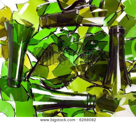 Composition Of Broken Bottles