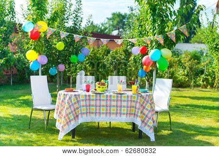 Prepared Birthday Table