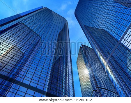 Modern business buildings