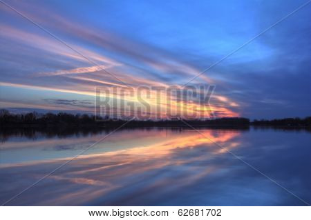 Pastel River Sunrise