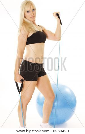 beautiful blonde exerciser
