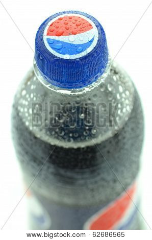 Bottle of Pepsi drink isolated on white