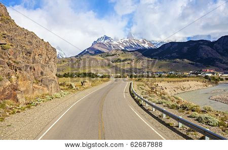 Road To El Chalten In Argentina.