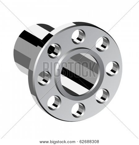 vector chrome pipe flange