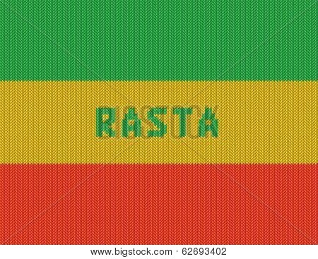 Rasta Background. Wicker rasta flag. Jpeg version