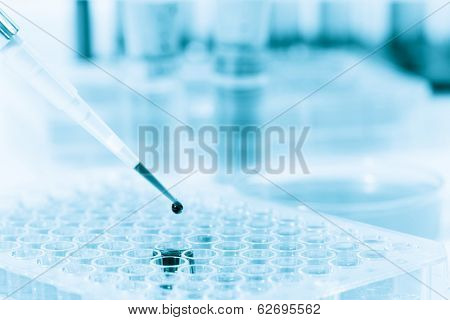 Microtubes and micropipet lab test