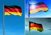 Germany Flag Waving On The Wind