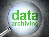Data concept: Data Archiving with optical glass