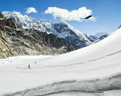 stock photo of cho-cho  - Cho La Pass in Sagarmatha National Park Himalayas - JPG