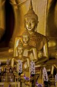 picture of siddhartha  - A golden Buddha statue inside a temple in Thailand - JPG